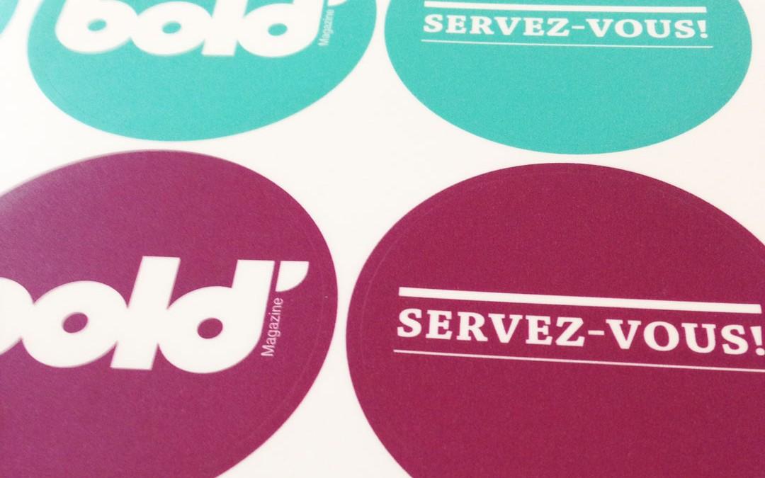 Stickers Bold Magazine