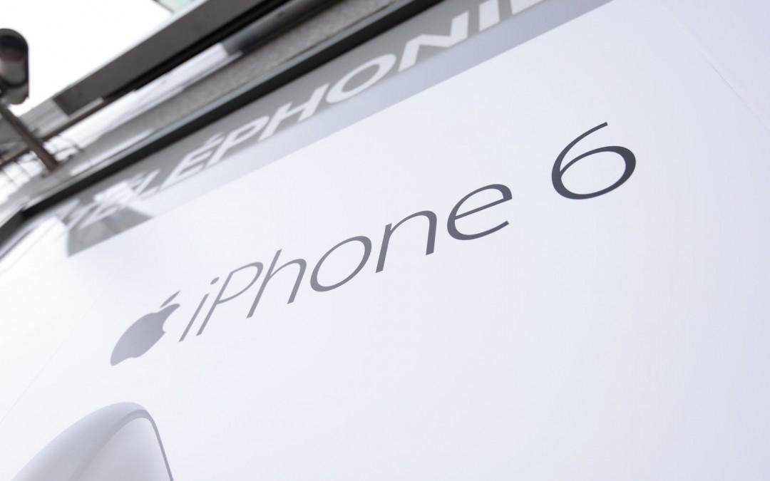 Vitrine POST pour la sortie de l'iPhone 6