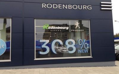Vitrine Rodenbourg pour la nouvelle 308
