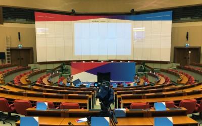Décoration de l'Hémicycle Conférence SET Plan 2015