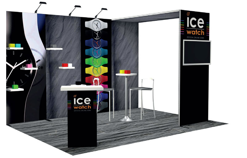 Stand d 39 exposition modulable h line luxvisual for Location stand exposition