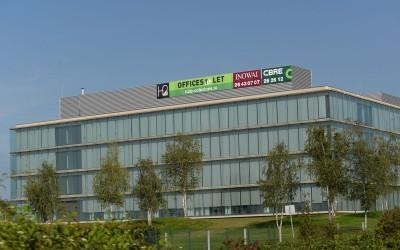 Signalétique immobilière bâtiment h2o