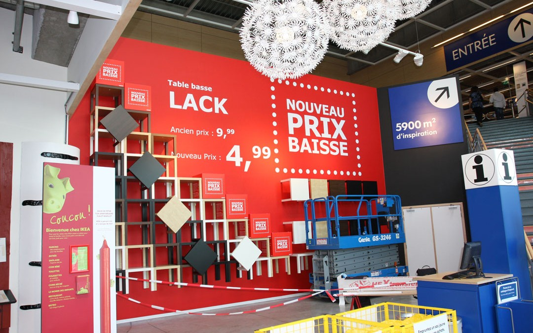 Lettrage Grand Format IKEA Arlon