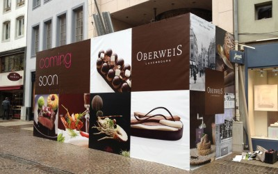 Habillage du Chantier Oberweis Grand-Rue